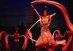 Xian's Tang dynasty dancers in performance of The Silk Road by the Shaanxi Song & Dance Troupe