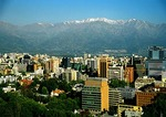 Santiago skyline with Andes mountains in background