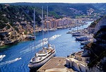Small cruise ship in Bonafacio harbor, Corsica