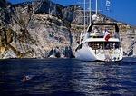 Mediterranean small ship cruise off coast of Corsica
