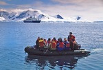 Cruise ship passengers in Zodiac on Paradise Bay, Antarctic Peninsula