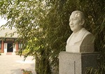 Soong Ching Ling, Madame Sun Yatsen, bust at her former residence in the Hou Hai, back lake, neighborhood of hutongs, was once a garden of a Qing dynasty prince