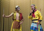 Monkey King Wukong with evil spirit in Beijing Opera Journey to the West at Liyuan Theater