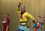 Monkey King Wukong battling evil spirits in Beijing Opera Journey to the West at Liyuan Theater