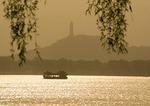 Summer Palace dragon boat on Kunming Lake