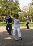 Morning tai chi chuan exercises in Tiantan (Temple of Heaven) Park