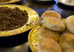 Fangshan (Imperial Kitchen) Restaurant specialty of minced pork stuffed buns dreamed up by the Dowager Impress Cixi