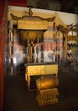Imperial Palace Museum (Forbidden City) musical instruments on display in Tower of Enhanced Righteousness (Hong Yi Ge)