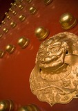 Imperial Palace Museum (Forbidden City) door knocker in residence area