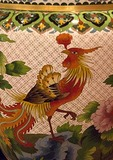 Beijing workshop cloisonne vase rooster design