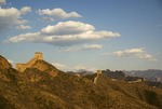 Clouds over Great Wall at Jinshanling, northeast of Beijing, in Hebei province