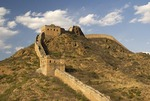 Great Wall view from General's Tower at Jinshanling Pass, northeast of Beijing, in Hebei province