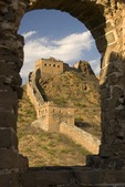 Ruins of Great Wall below General's Tower at Jinshanling Pass, northeast of Beijing, in Hebei province