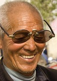 Elderly Shanxi farmer with antique glasses