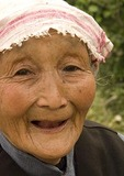 Elderly Shanxi farm woman