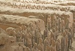 Xian terra cotta army in Qin Shihuangdi Museum pit number 1