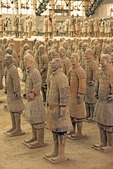 Xian's terra cotta army in Qin Shihuangdi Museum pit number 1