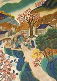Hushien county peasant painting in Xian