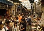Xi'an covered alleyway market (Huajue Xiang) near Drum Tower and the Great Mosque