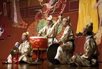Luogo ensemble on stage at Tang dynasty performance of the Silk Road