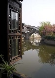 Xitang ancient water town in spring, location for film Mission Impossible III