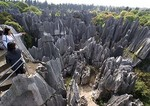 Yunnan's Stone Forest overlook