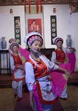 Bai nationality women dancers in Dali, Yunnan