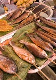 Fried fish from Lake Erhai for sale on Golden Shuttle (Jinsuo Dao) Island near Dali