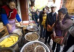 Lijiang Old Town food stall