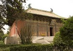 Yongle Daoist Temple's  Chunyang Hall built in 1358 in Ruicheng county, southern Shanxi province