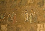 Mural in Yongle Daoist Temple's Chongyang Hall depicting social life in Song dynasty, Ruicheng county, Shanxi