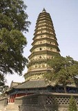 Guang Sheng Buddhist temple and pagoda in Shanxi province is noted example of ancient Chinese architecture