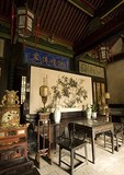 Wang Family Courtyard 17th century classic style merchant mansion interior furnishings, near Pingyao in Shanxi province