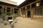 Wang Family Courtyard 17th century classic style merchant mansion, near Pingyao in Shanxi province