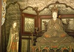 Jin Ci (Jin Temple) Song dynasty colored clay sculpture masterpieces of ancient China in Hall of the Holy Mother (Shengmu Dian)