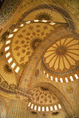 Ceiling of Blue Mosque (Sultan Ahmet Cami) domes