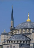 Blue Mosque (Sultan Ahmet Cami) minaret and dome