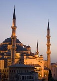 Blue Mosque (Sultan Ahmet Cami) at dusk