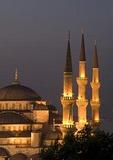 Blue Mosque (Sultan Ahmet Cami) at night