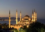 Sultan Ahmet Mosque (Blue Mosque) at night