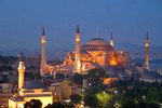 Aya Sofya (Hagia Sophia, Church of the Holy Wisdom) at night