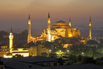 Aya Sofya (Hagia Sophia, Church of the Holy Wisdom) at dawn