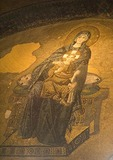 Aya Sofya (Hagia Sophia, Church of the Holy Wisdom), giant Byzantine mosaic of Virgin Mary with infant Jesus