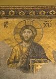 Aya Sofya (Hagia Sophia, Church of the Holy Wisdom), Byzantine mosaic of  Jesus Christ