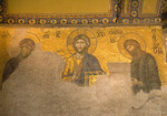 Aya Sofya (Hagia Sophia, Church of the Holy Wisdom), Byzantine mosaic of Jesus Christ with John the Baptist at right