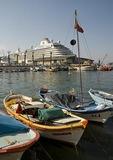 Cruise ship Crystal Serenity in port at Kusadasi