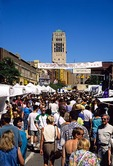 State Street Area Art Fair crowd at annual summer Ann Arbor art fairs