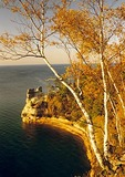 Miner's Castle on Lake Superior in autumn, Pictured Rocks National Lakeshore