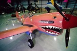 "World War II ""Flying Tiger"" Curtis P-40N Warhawk at the Kalamazoo Aviation History Museum"