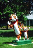 Kellogg's Tony the Tiger and Tony Jr. at corporate headquarters